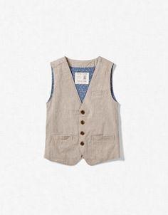 STRIPED SUIT waistcoat / vest from zara