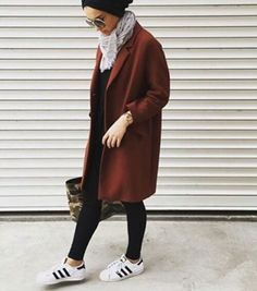 coat Islamic Fashion, Muslim Fashion, Modest Fashion, Fashion Outfits,  Street Hijab Fashion
