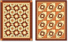 Quilts made with the Frolic quilt block - images © Wendy Russell