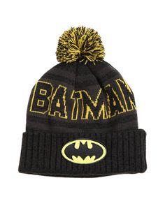 DC Comics Batman Fold-Over Pom Beanie   Hot Topic