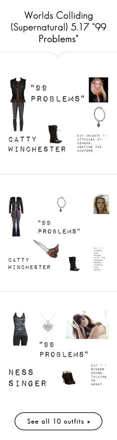 """""""Worlds Colliding (Supernatural) 5.17 """"99 Problems"""""""" by mysticfalls1997 ❤ liked on Polyvore featuring Ksubi, Ivan Montesi, Jean-Paul Gaultier, maurices, ONLY, Marika, Pelle Moda, Pieces, Donna Karan and Sam Edelman"""
