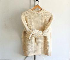 vintage aran fisherman chunky sweater Ireland wool by bohemiennes, $65.00