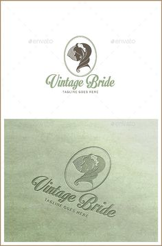 Vintage Bride  Bridal Logo Template — Vector EPS #graphic vector #pastel color • Available here → https://graphicriver.net/item/vintage-bride-bridal-logo-template/10748362?ref=pxcr