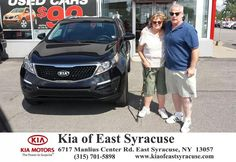 We just traded our 2014 Sedona for a 2016 Sportage All wheel Drive LX at Kia of East Syracuse. We are so pleased that Dave Pistello was able to facilitate this purchase of our 6th Kia. We are committed Kia owners, and appreciate the excellent sales and service that we continually experience at Kia of East Syracuse. They are the BEST!!!-Gale Farinas, Thursday, August 06, 2015  http://www.kiaofeastsyracuse.com/?utm_source=Flickr&utm_medium=DMaxxPhoto&utm_campaign=DeliveryMaxx