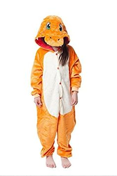 74f80bda97 JT-Amigo Kids Unisex Kigurumi Pajamas Onesie Charmander Costume -- Awesome  products selected by Anna Churchill