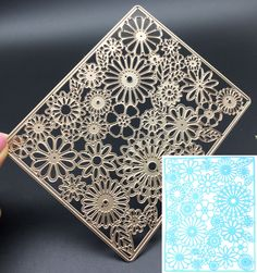 Rectangle Sunflower Metal Cutting Dies Stencil Scrapbooking Card Embossing Craft #Unbrand