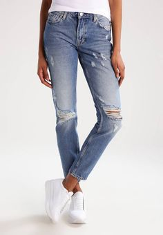 Pepe Jeans. HEIDI/THROWBACK - Vaqueros slim fit - denim. Modelo, altura:180 cm, lleva la talla 27x32. Largo exterior de la pierna:103 cm (talla 27x32). Bolsillos:traseros,laterales. Cuidados:lavar a máquina a 40 °C,no utilizar secadora. Largo entrepierna...