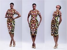 ankara dress design. I gotta learn how to sew!