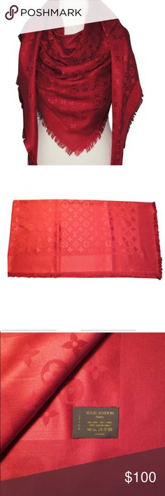 Louis Vuitton red Scarf 🧣 Louis Vuitton red Scarf.Brand new! Louis Vuitton Accessories Scarves & Wraps