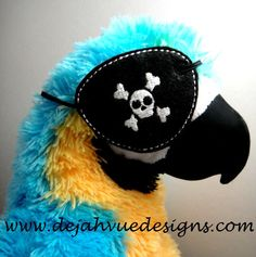 Pirate Eye Patch Embroidery Design