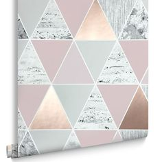 Rose Gold Reflections Wallpaper, , large The colours are so dreamy!