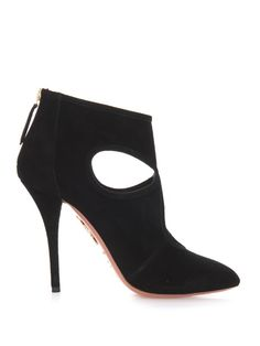 Aquazzura Sexy Thing cut-out suede ankle boots