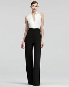 Donna Karan High-Waist Crepe Pants