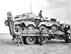 The British offensive in Libya: capture of German eight wheeled armoured car, first pictures - 1942