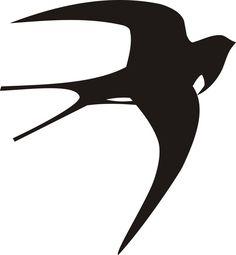 ласточка рисунок - Поиск в Google 8 Martie, Bird Feathers, Art Drawings, Stencils, Birds, Silhouette, Black And White, Tattoos, Prints
