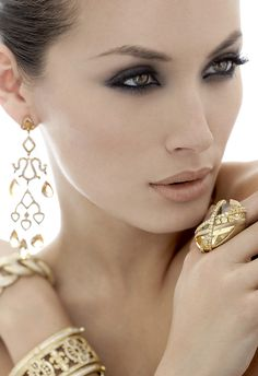 Model with Jewelry for beauty shoot