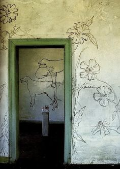wall decorations by french artist and poet LP Promenheur.