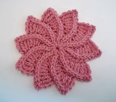 Twirlagig spiral Flower, a knit look Crochet Pattern