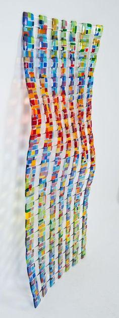 "Handmade Glass Wall Sculpture "" Retro Mesh"" by Trio Design Glassware Ltd. | CustomMade.com"