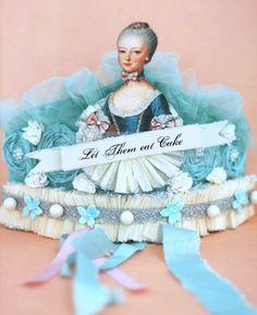 tiffany blue, marie antoinette, and a crown?! it's my dream head wear