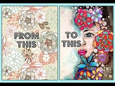 MIXED MEDIA MAKEOVER | Transform Pattern Paper into Painting - YouTube
