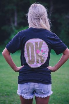 "Mod ""OK"" Tee available at J. Lilly's Boutique or jlillysboutique.com"