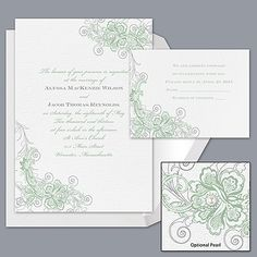 Bridal Lace - Meadow - Invitation