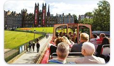 Great bus tour options- I recommend the Grand Plus ticket, which includes the Firth of Forth bus-and-boat tour. Welcome to Edinburgh Bus Tours