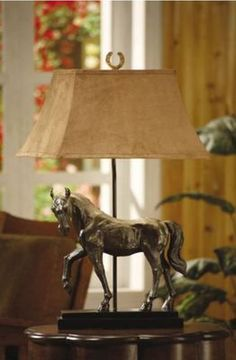 Bronze Horse Table Lamp by Crestview Collections Crestview Collections Bronze Horse Table Lamp, The Crestview Collections selection of Lamps, Mantel Mirrors, Wall Clocks, Pictures, and other decoratin