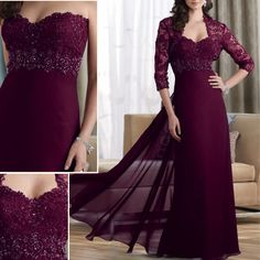 China Wine Red Chiffon Lace Long Sleeves Beaded Evening Dress Find details about China Evening Dress, Long Bridesmaid Dress from Wine Red Chiffon Lace Long Sleeves Beaded Evening Dress - Suzhou Leader Apparel Co. Classy Evening Gowns, Evening Gowns With Sleeves, Lace Evening Gowns, Pretty Dresses, Beautiful Dresses, Bride Groom Dress, Chiffon Dress, Red Chiffon, Classy Dress