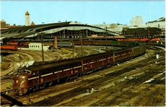 Back side of Union Station, St Louis MO.  When it still handled trains and not boutiques and sandwich shops.