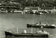 Nordland fylke Narvik kommune Kaien med båter Utg Mittet 1950-tallet