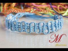How to make macrame Wave Bracelet tutorial DIY - YouTube