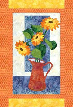 Sunshine in a Pitcher - Applique Quilt Applique Patterns, Applique Quilts, Quilt Patterns, Applique Ideas, Small Quilt Projects, Quilting Projects, Sewing Projects, Hobbies For Girls, Hobbies And Crafts