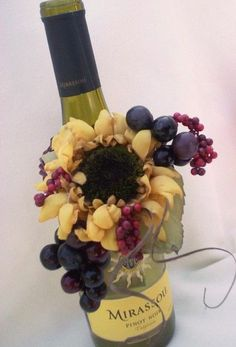 centerpieces for an italian dinner | Floral on Bottle | Italian Dinner Decorations
