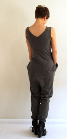 HELLIN Organic cotton sweat Treasure Collector Jumpsuit AW2016