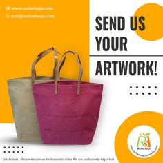 We at Richie Bags love to try out new stuff, we are cohesive but not rigid in our way of approach. So if you don't quite find your desired designs or styles in our product catalog, then feel free to send us your own artwork and designs. Let's collaborate as artists.  Visit us: www.richiebags.com Email us: info@richiebags.com  #CottonBags #JuteBags #NatureBags #EcoBags Promotional Bags, Product Catalog, Jute Bags, Cotton Bag, Canvas Tote Bags, Shopping Bag, Finding Yourself, Artists, Artwork