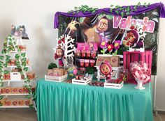Masha and the Bear Theme Party for Girls - Trend Today : Your source for the latest trends, exclusives & Inspirations Bear Birthday, 2nd Birthday Parties, Masha Et Mishka, Marsha And The Bear, Paris By Night, Simple Wedding Centerpieces, Bear Theme, Bear Party, Ideas Para Fiestas