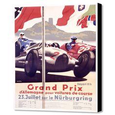 "Grand Prix Nurburgring (16""W x 20""H x 1.5""D)"