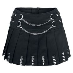 Punk Skirt ❤ liked on Polyvore featuring skirts, pleated skirt, knee length pleated skirt, punk rock skirts, zipper skirt and silver skirt