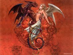 angels and demons art | HQ wallpaper Angels and Demons 1440 x 900 on the desktop, high quality ...