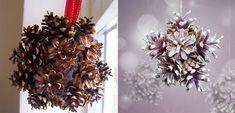 karácsonyi díszek Homemade Christmas Decorations, Christmas Tree Ornaments, Christmas Wreaths, Holiday Decor, Christmas Makes, Christmas Diy, Xmas, Pine Cone Crafts, Pine Cones