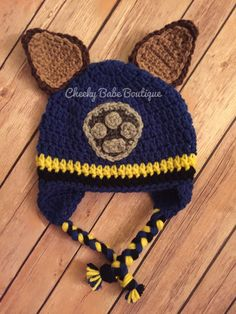 PAW Patrol inspired hat by CheekyBabeBoutique on Etsy