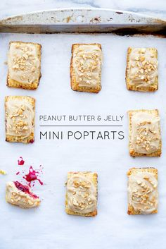 In honor of National Pi Day, these Mini Peanut Butter Jelly Pop Tarts combine flakey pastry strudel, a jelly center, and peanut butter icing in this bite sized treat that everyone will love! Peanut Butter Pop Tarts, Peanut Butter Icing, Peanut Butter Recipes, Just Desserts, Dessert Recipes, Cookie Recipes, Yummy Treats, Sweet Treats, Broma Bakery