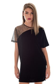 Motel Wilma Velvet Glitter Lace Dress | Shift Style Dress | DIZEN