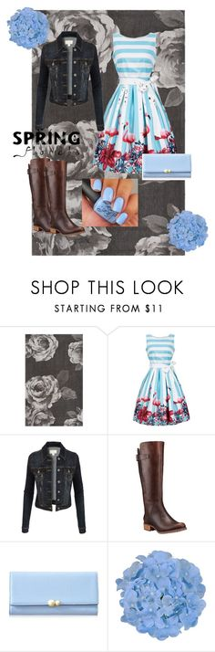 """""""Spring Florals"""" by always-and-forever-rose ❤ liked on Polyvore featuring PBteen, LE3NO, Timberland, Flowers, floralprint, pastels, fashionset and springflorals"""