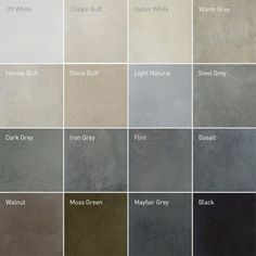 Lazenby Concrete Floor Colours. For the kitchen, I'm quite keen on flint, basalt, or Mayfair Grey