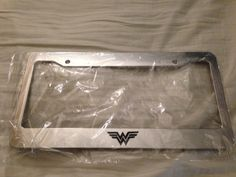Wonderwoman Wonder Woman Superhero - CHROME LICENSE plate frame - hellaflush racing jdm look new race  Dark knight. $12.99, via Etsy.