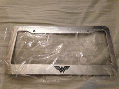 Wonderwoman Wonder Woman Superhero - CHROME LICENSE plate frame - hellaflush racing jdm look new race  Dark knight. $12.99, via Etsy.