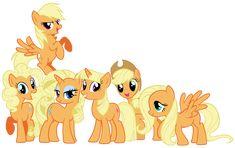 Mane 6 as My Little Applejack by Shadowhedgiefan91.deviantart.com @deviantART